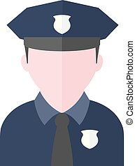 Flat icon - Police avatar