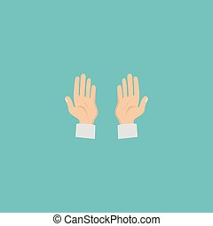Flat Icon Prayer Hands Element. Vector Illustration Of Flat Icon Palm Isolated On Clean Background. Can Be Used As Prayer, Hand And Palm Symbols.