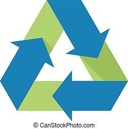 Flat icon - Recycle symbol
