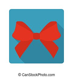 Flat icon red bow
