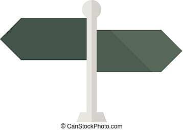Flat icon - Road sign post