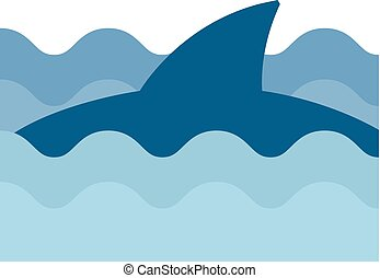 Flat icon - Shark