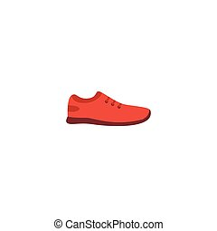 Flat Icon Sneakers Element. Vector Illustration Of Flat Icon Gumshoes Isolated On Clean Background. Can Be Used As Sneakers, Gumshoes And Shoes Symbols.