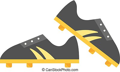 Soccer Shoe icon in flat color style. Sport football foot protection