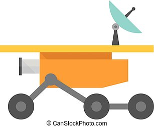 Flat icon - Space rover - Space rover icon in flat color...