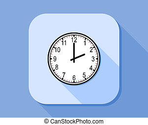 Flat icon style of the analog clock