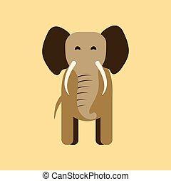 flat icon stylish background cartoon elephant