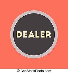 flat icon stylish background poker chip dealer - flat icon...