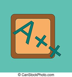 flat icon thin lines exam score excellent