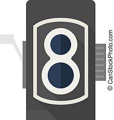 Flat icon - TLR camera - Twin lens reflex camera icon in ...