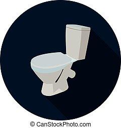 flat icon toilet 3d