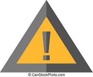 Flat icon - Warning sign
