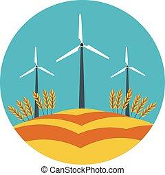 flat icon windmill