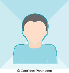 Flat icon with a silhouette