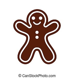 flat icon with long shadow Christmas honey-cake