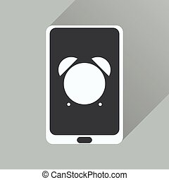 Flat icon with long shadow mobile applications
