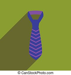 Flat icon with long shadow tie