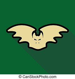 Flat icon with shadow bat