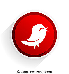 flat icon with shadow on white background, red modern design web element
