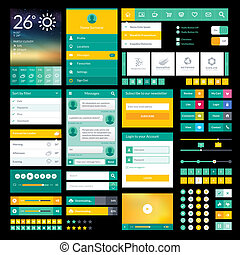 Flat icons and elements