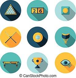 flat icons Billiards