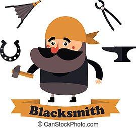 flat  icons blacksmith