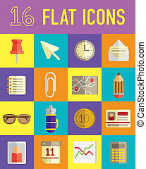 flat icons business