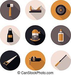 flat icons carpenter