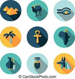 flat icons Egypt