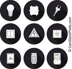flat icons electrician