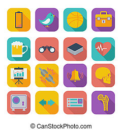 Flat icons for Web Design set 2