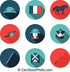 flat icons Napoleon
