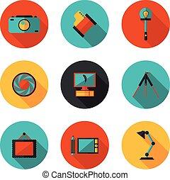flat icons photo
