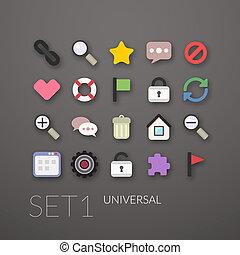 Flat icons set 1