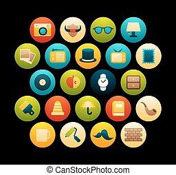 Flat icons set 14