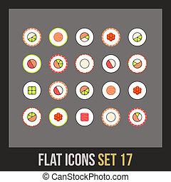 Flat icons set 17