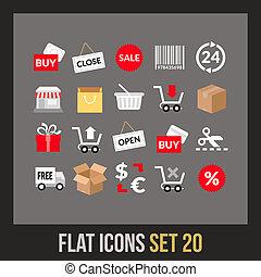 Flat icons set 20