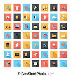 Flat icons - Vector set of modern and simple flat icons with...