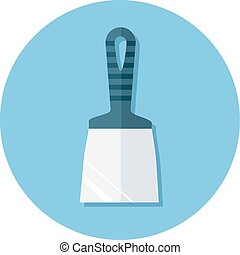 Flat icons with putty knife