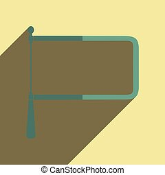 Flat icons with shadow of coping saw