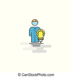 Flat Idea Icon. Vector