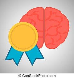 Flat illustration about achievement design - Achievement...