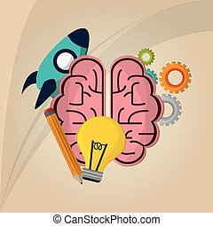 Flat illustration about idea design