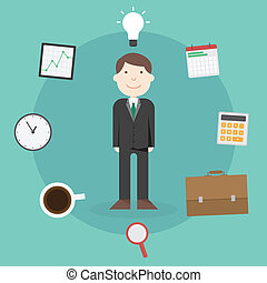 Flat Illustration Businessman