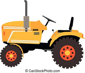 flat illustration of a tractor