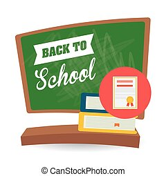 Flat illustration of Back to School design