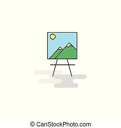 Flat Image Icon. Vector