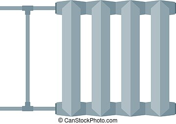 radiator - Flat image of radiator for heating systems