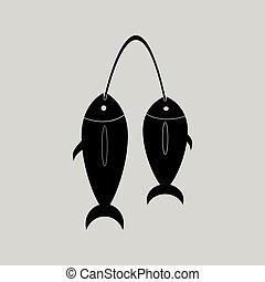 Flat in black and white fresh fish
