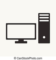 Flat in black and white mobile application pc